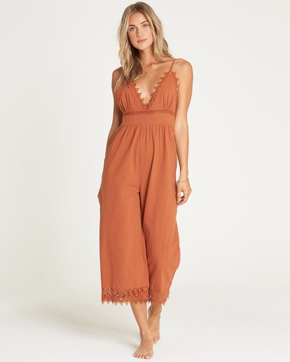 1 Lace And Lies Jumpsuit Brown JN05UBLA Billabong