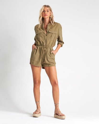 3 Wake The Night Jumpsuit Green JN05VBWA Billabong