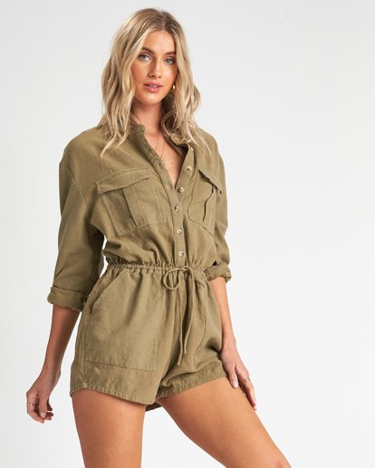 1 Wake The Night Jumpsuit Green JN05VBWA Billabong