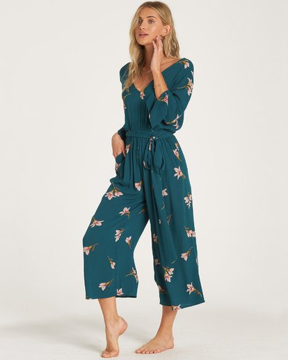 2 Twist Back Jumpsuit Green JN06WBTW Billabong