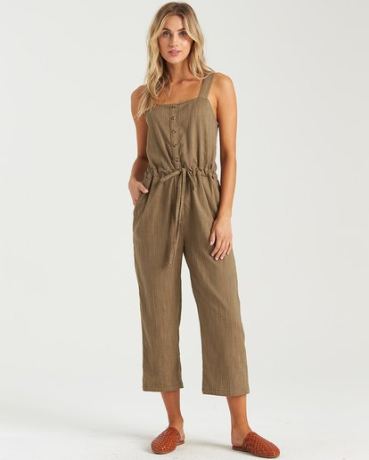 3 Sandy Shores Overalls Green JN083BSA Billabong