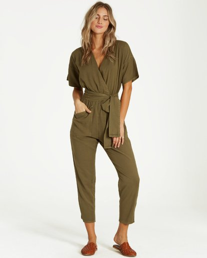 3 High Flyer Jumpsuit Green JN11VBHI Billabong