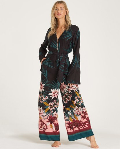 2 Born With It Jumpsuit Black JN11WBBO Billabong