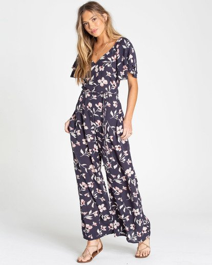 0 Fluttering Heart Jumpsuit Blue JN15TBFL Billabong