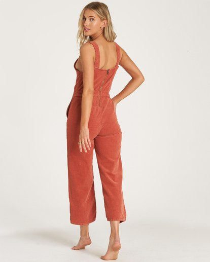 4 Get Lost Cord Jumpsuit Blue JN16WBGE Billabong