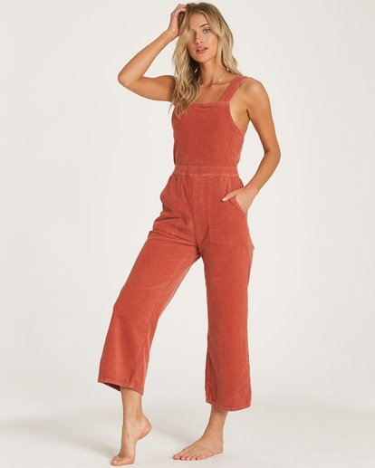 2 Get Lost Cord Jumpsuit Blue JN16WBGE Billabong