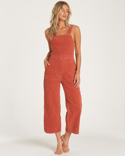 3 Get Lost Cord Jumpsuit Blue JN16WBGE Billabong