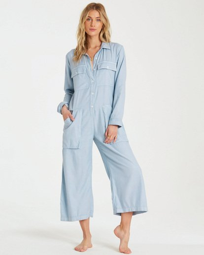 1 Work At It Jumpsuit Blue JN18WBWO Billabong