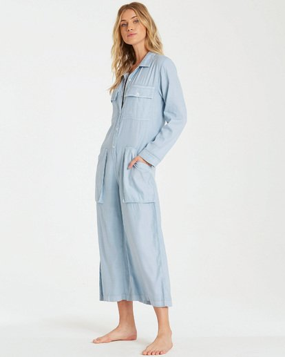 2 Work At It Jumpsuit Blue JN18WBWO Billabong