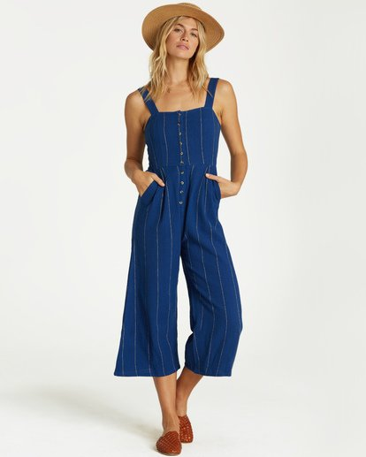 2 Paint The Town Jumpsuit Blue JN20VBPA Billabong
