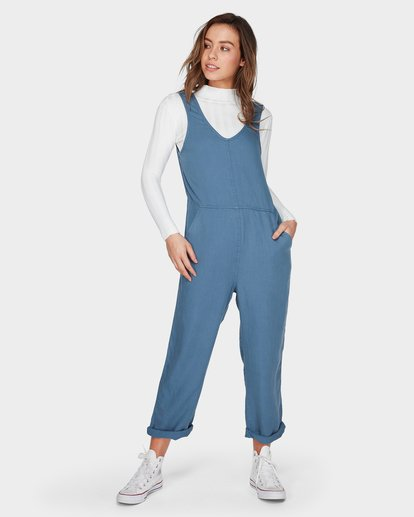 1 Desert Tencel Jumpsuit Blue JN42UBDE Billabong