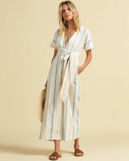 0 Salty Blonde Dream Weaver Jumpsuit Grey JN443BDR Billabong