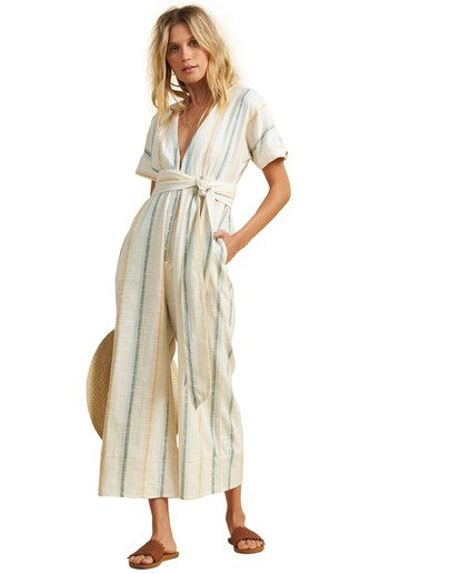 3 Salty Blonde Dream Weaver Jumpsuit Grey JN443BDR Billabong