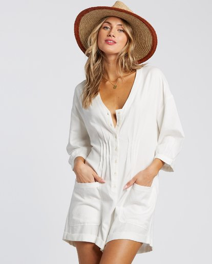 3 Sunday Vibes Onesie White JN521BSS Billabong