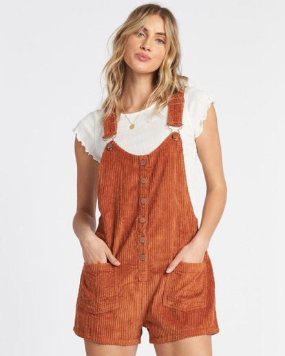 4 Jillaroo Corduroy Jumpsuit Brown JN60VBJI Billabong