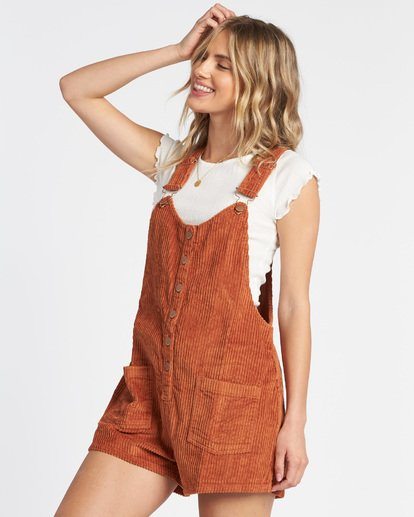 2 Jillaroo Corduroy Jumpsuit Brown JN60VBJI Billabong