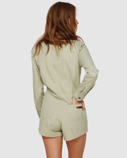 4 Gigi Twill Jumpsuit Green JN61VBGI Billabong