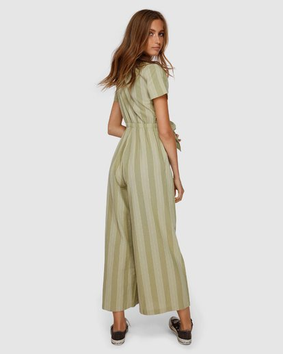 3 Ivy Stripe Jumpsuit Green JN62VBIV Billabong