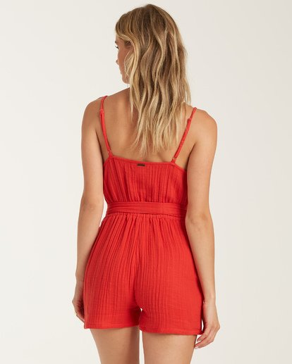 2 Linger On Romper Red JN762BLI Billabong