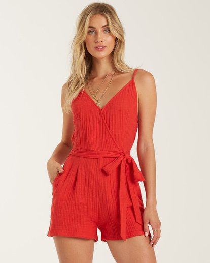 0 Linger On Romper Red JN762BLI Billabong