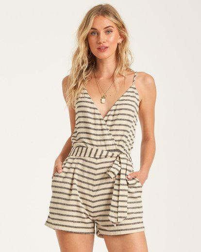 2 Linger On Romper White JN842BLI Billabong