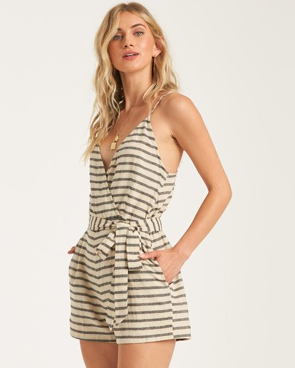 3 Linger On Romper White JN842BLI Billabong