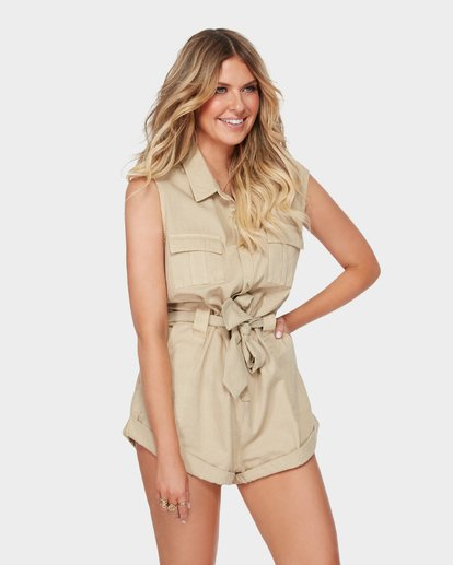 2 The Desert Romper Beige JN91SBDE Billabong