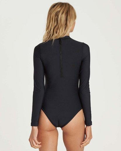 2 Mock Neck Bodysuit Rashguard Black JR89NBBS Billabong
