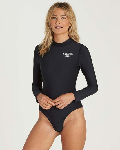 1 Mock Neck Bodysuit Rashguard Black JR89NBBS Billabong