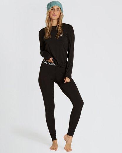 0 Women's Warm Up Tech Under Layer Pants Black JSN3QWUB Billabong
