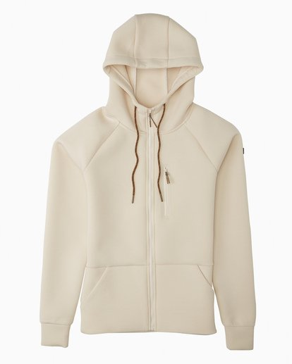 0 A/DIV Women's Freezing Fog Full-Zip Hoodie White JSN63BFR Billabong