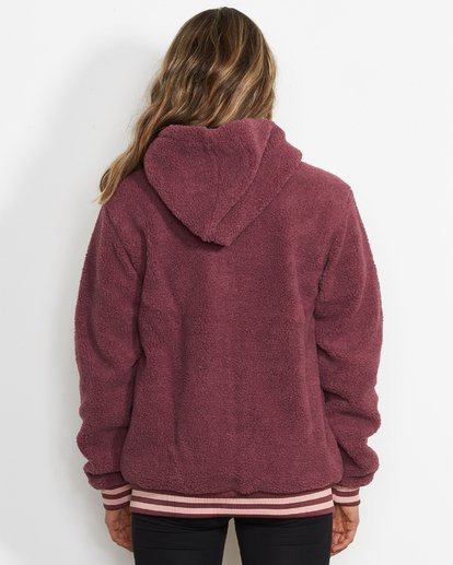 2 Women's Blossom Sherpa Hoodie Purple JSN6QBLO Billabong