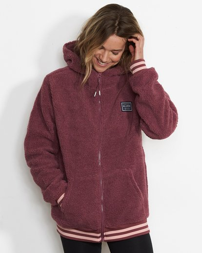 0 Women's Blossom Sherpa Hoodie Purple JSN6QBLO Billabong
