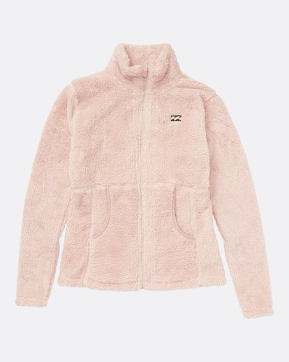 3 Women's First Chair Zip Up Sherpa Fleece Pink JSN6QFIR Billabong