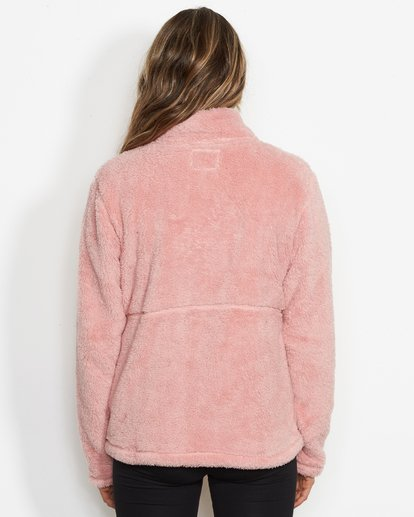 1 Women's First Chair Zip Up Sherpa Fleece Pink JSN6QFIR Billabong
