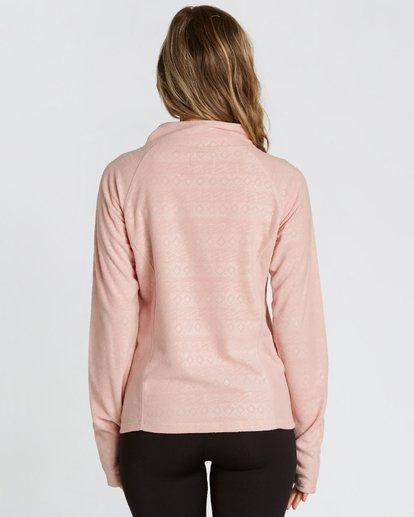 2 Women's Morning Call Half Zip Polar Fleece Pink JSN6QMOR Billabong