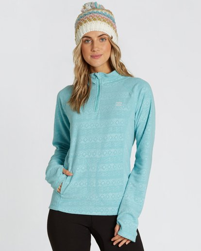 0 Women's Morning Call Half Zip Polar Fleece Blue JSN6QMOR Billabong