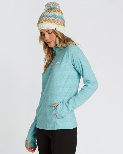 1 Women's Morning Call Half Zip Polar Fleece Blue JSN6QMOR Billabong