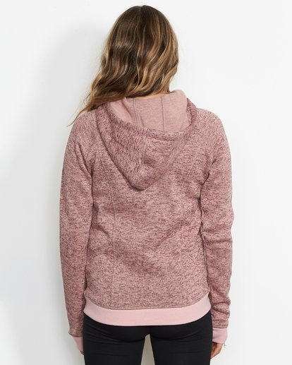 1 Women's Snow Off Fleece Hoodie Pink JSN6QSNO Billabong