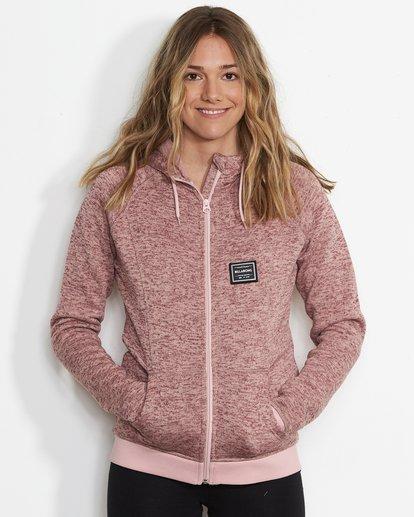0 Women's Snow Off Fleece Hoodie Pink JSN6QSNO Billabong