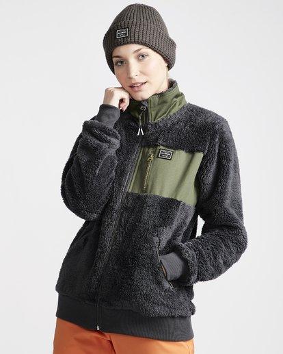 2 Women's Passport Sherpa Fleece Jacket Grey JSN6VBPS Billabong