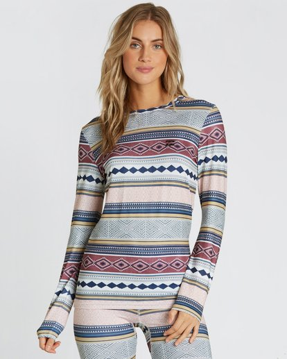0 Women's Warm Up Tech Tee Long Sleeve Under Layer Shirt  JSN9QWUT Billabong