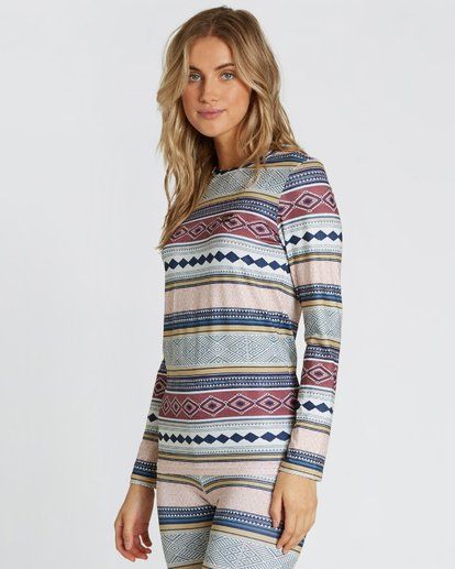 1 Women's Warm Up Tech Tee Long Sleeve Under Layer Shirt  JSN9QWUT Billabong