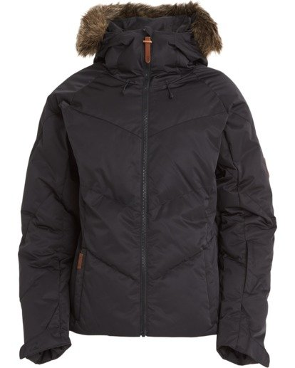 7 Women's Daytime Puffer Snow Jacket Black JSNJ3BDA Billabong