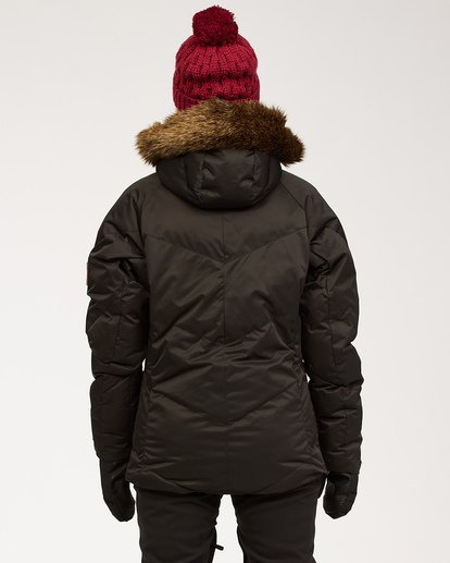 3 Women's Daytime Puffer Snow Jacket Black JSNJ3BDA Billabong