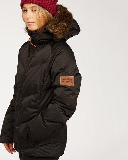 6 Women's Daytime Puffer Snow Jacket Black JSNJ3BDA Billabong