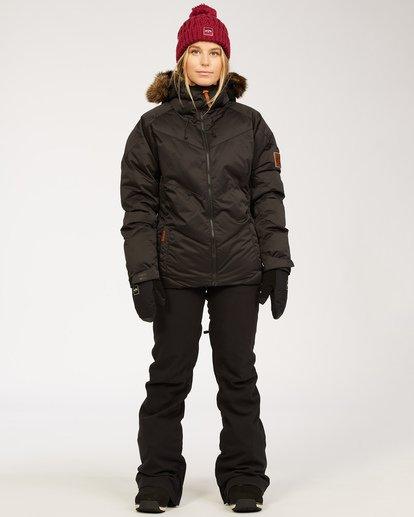 4 Women's Daytime Puffer Snow Jacket Black JSNJ3BDA Billabong
