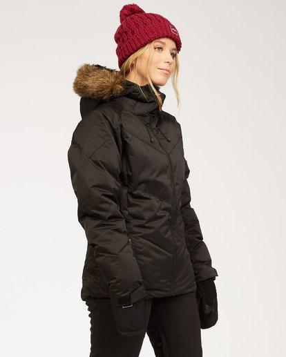 1 Women's Daytime Puffer Snow Jacket Black JSNJ3BDA Billabong