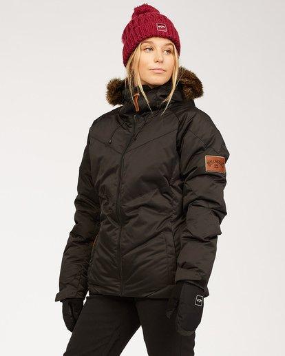 2 Women's Daytime Puffer Snow Jacket Black JSNJ3BDA Billabong