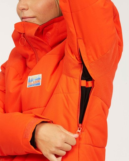 6 Women's Down Rider Snow Jacket Orange JSNJ3BDR Billabong
